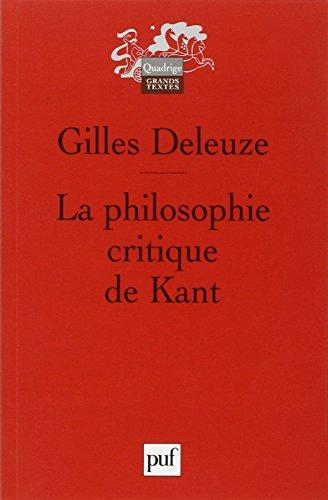 9782130589235: La philosophie critique de Kant (French Edition)