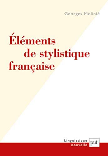 9782130589945: �l�ments de stylistique fran�aise