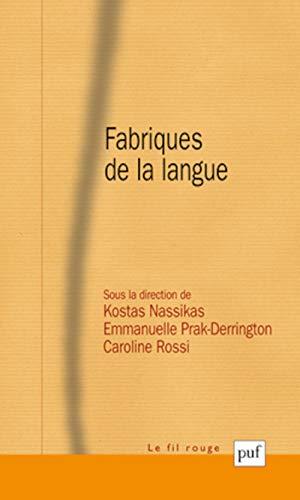 Fabriques de la langue: Nassikas, Kostas
