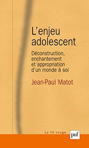 l'enjeu adolescent ; déconstruction, enchantement et appropriation: Jean-Paul Matot