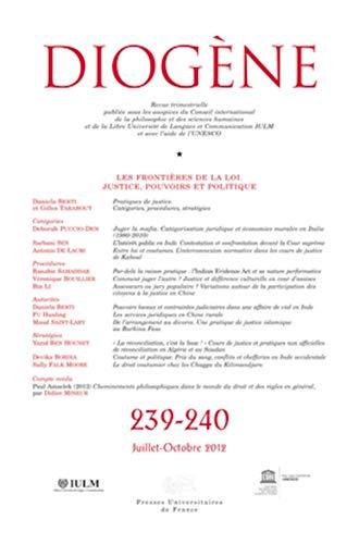Revue Diogène, no 239-240: Collectif