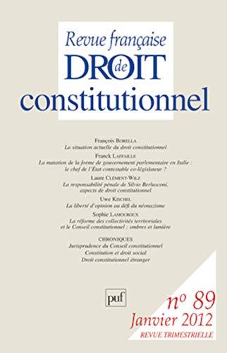 REVUE FRANCAISE DE DROIT CONSTITUTIONNEL T.89: Alain Morvan