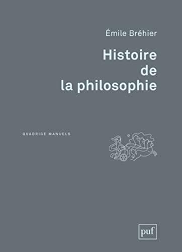 histoire de la philosophie (2e edition): Emile Bréhier