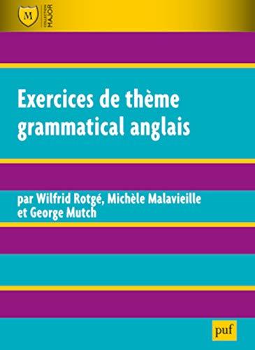 9782130625728: Exercices de thème grammatical anglais