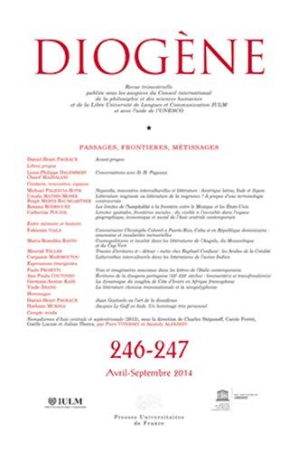 9782130628781: Diogene 2014 N 246-247.