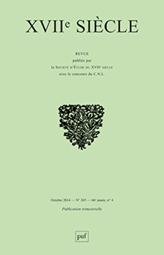 Revue XVIIe siècle, no 265: Collectif