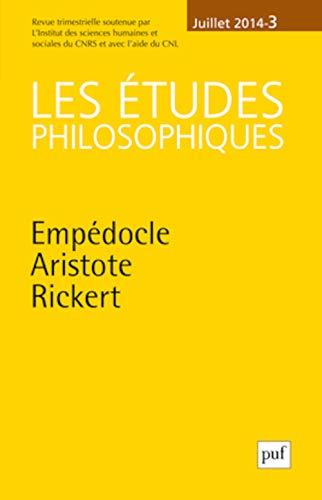 Études Philosophiques 2014 N 3: David Lefebvre