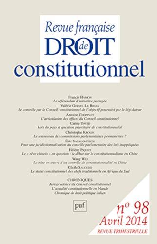 Revue Française de Droit Constitutionnel 2014 N 98