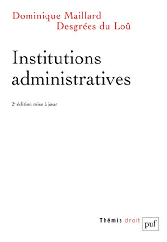 9782130634652: Institutions administratives