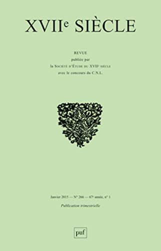 Revue XVIIe siècle, no 266: Collectif