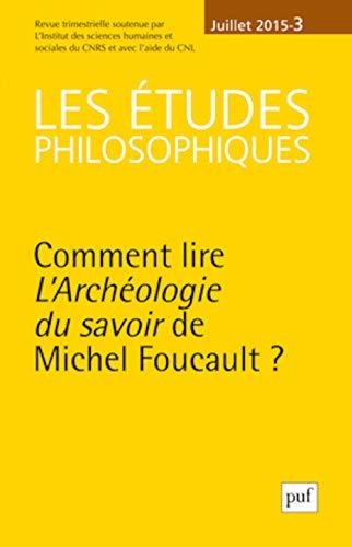 9782130651116: Les �tudes Philosophiques 2015 N 3
