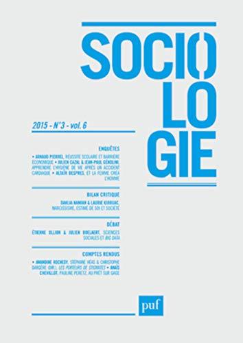 Sociologie 2015 N 3: Collectif