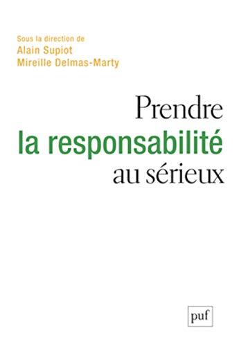 9782130732594: Prendre la responsabilité au sérieux