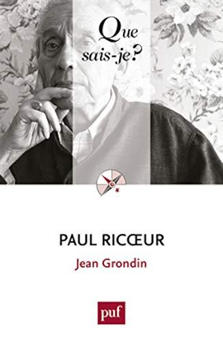 9782130735199: Paul Ricoeur (Que sais-je ?)