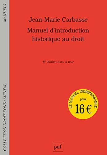 9782130813309: Manuel d'introduction historique au droit