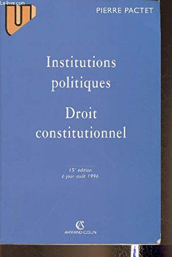 Institutions politiques, droit constitutionnel