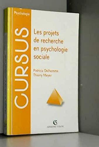 9782200015046: LES PROJETS DE RECHERCHE EN PSYCHOLOGIE SOCIALE. Méthodes et techniques