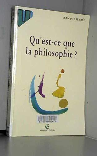 9782200015480: Qu'est-ce que la philosophie ?