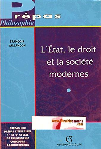 L'État, le droit et la société modernes - Vallancon