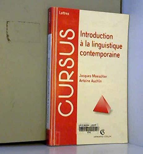 9782200017040: Introduction a la linguistique contemporaine