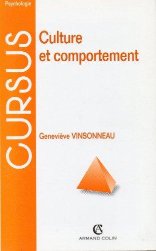 9782200017255: Culture et comportement (2ème édition)