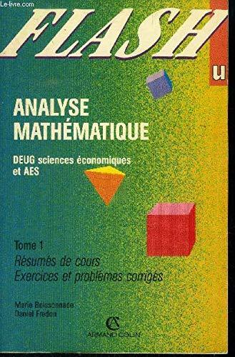 9782200212728: Analyse math�matique Tome 1 : Analyse math�matique