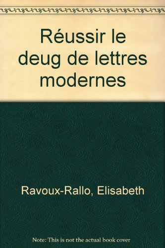 9782200212742: Réussir le DEUG de lettres modernes