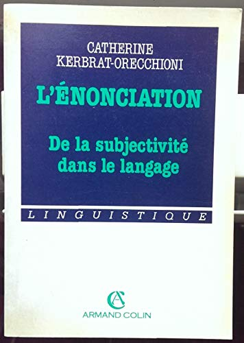 9782200213626: L'Enonciation (French Edition)