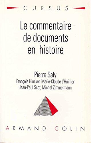 9782200216504: Le commentaire de documents en histoire