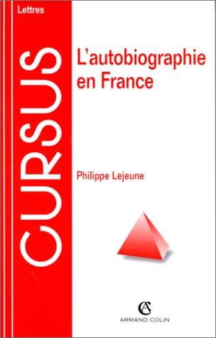 9782200218904: L'autobiographie en France (Cursus. Littérature)