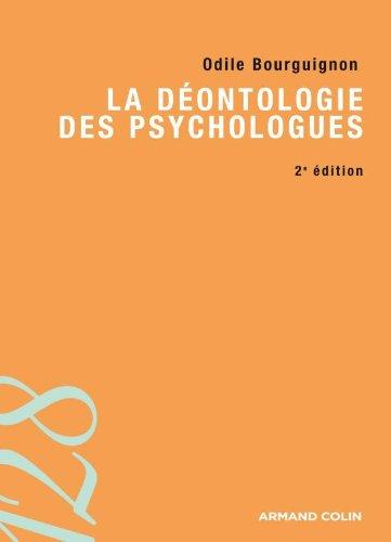 9782200244644: La déontologie des psychologues