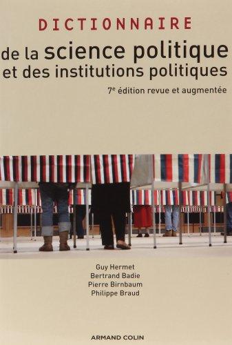 9782200246327: Dictionnaire de la science politique et des institutions politiques