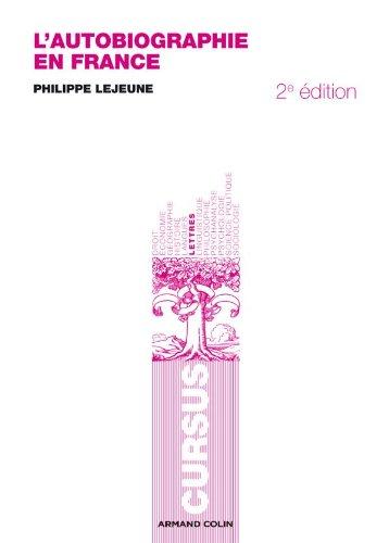 9782200250058: L'autobiographie en France - 2e éd.