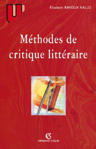 9782200250751: Méthodes de critique littéraire