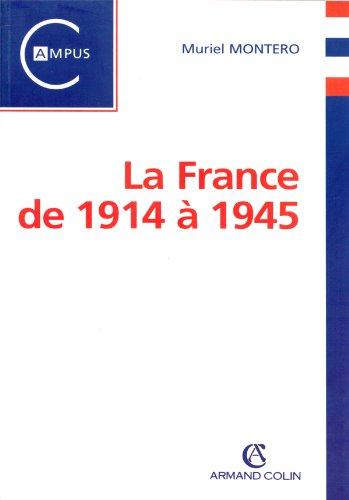 9782200252694: La France de 1914 à 1945