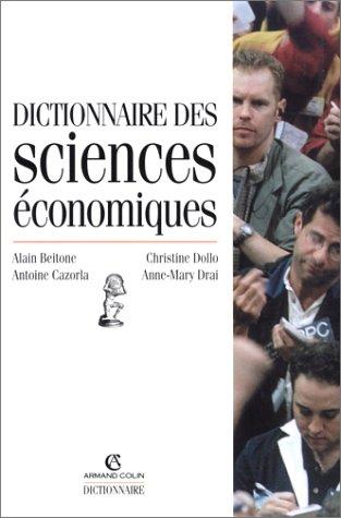 9782200260897: Dictionnaire des sciences �conomiques, 3e �dition