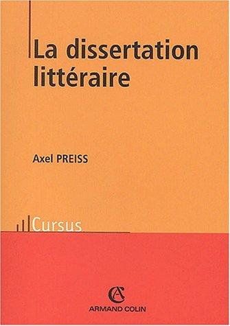 Dissertation litteraire 2ed: Preiss