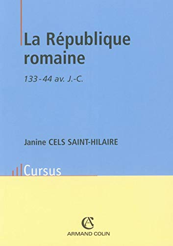 9782200261603: La République romaine (French Edition)