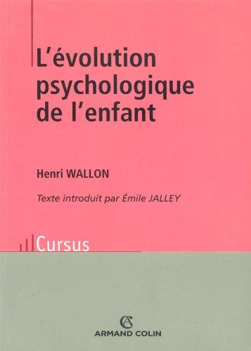 9782200263034: L'evolution psychologique de l'enfant 11 ed