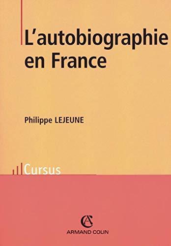 9782200265434: L'autobiographie en France (Cursus. lettres)