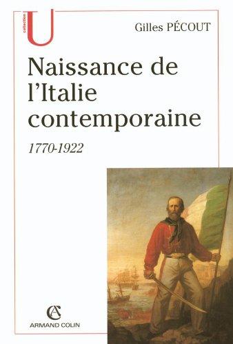 9782200267926: Naissance de l'Italie contemporaine : 1770-1922