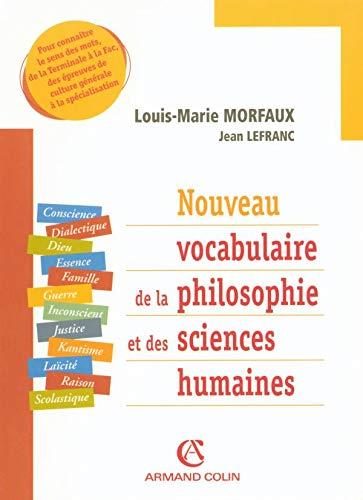 9782200269814: Nouveau vocabulaire de la philosophie et des sciences humaines