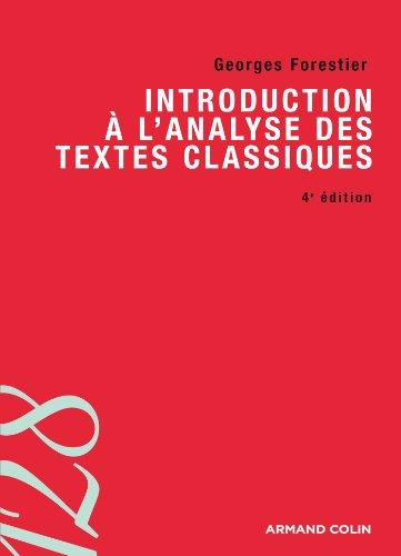 9782200277437: Introduction à l'analyse des textes classiques