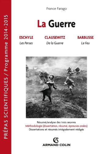 9782200277963: La guerre: Pr�pas scientifiques : Fran�ais-Philosophie Question 2014-2015