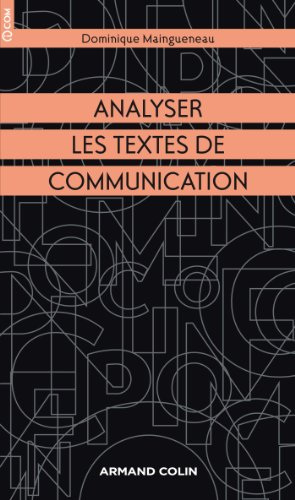 9782200282141: Analyser les textes de communication