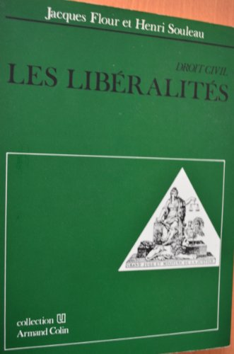 9782200311858: Les liberalites (Collection U) (French Edition)