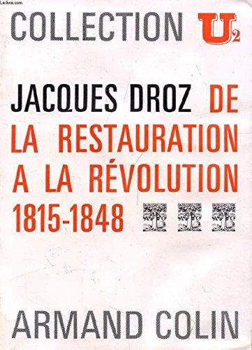 9782200320287: De la restauration a la revolution (1815-1848)
