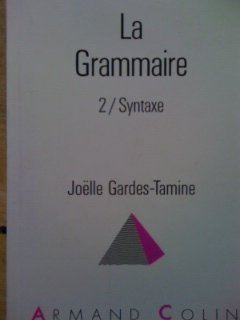 9782200330552: La Grammaire 2 / Syntaxe (French Edition)
