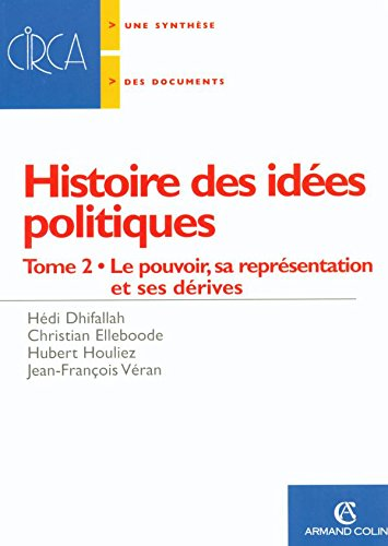 9782200340131: Histoire des idées politiques : Tome 2, Le pouvoir, sa représentation et ses dérives