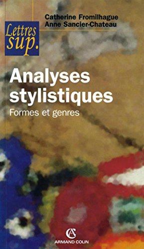 9782200340995: Analyses stylistiques : Formes et genres